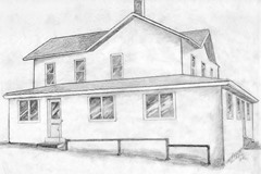 sketch of Keith's farmhouse
