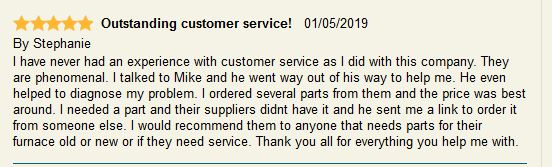 review from Stephanie