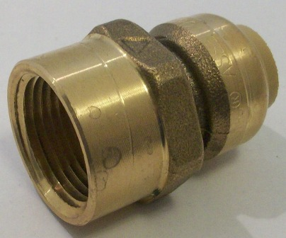 Sharkbite push fit fittings for Copper pipe to pex fitting