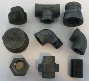 ells, tees, couplings, caps, plugs, bushings, unions, floor flanges and Gasoila thread joint compound