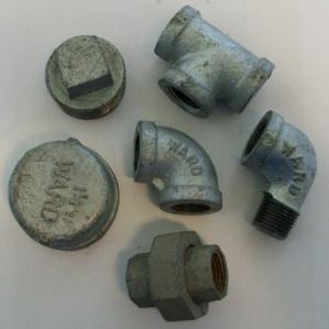 couplings, ells, tees, caps, plugs, bushings, unions and Gasoila thread joint compound