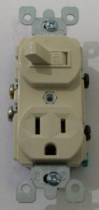 picture of Leviton ivory switch & receptacle