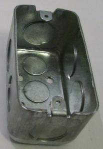 picture of galvanized handy box, 3/4 KO
