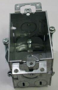 "2 x 3 x 2 1/2"" galvanized box with grips"
