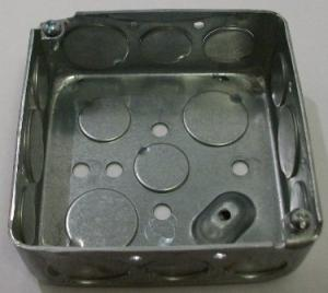 "4 x 4 x 1 1/2"" galvanized box, plain"