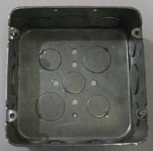 "4 11/16 square x 2 1/8"" galvanized box"