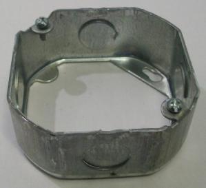 "4"" octagon x 1 1/2"" galvanized box extension"