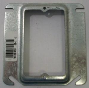 "4x4"" single device raised plaster ring"