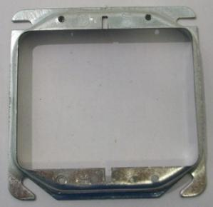 "4x4"" double device raised plaster ring"