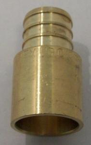 PEX crimp x copper fitting adapters, lead free