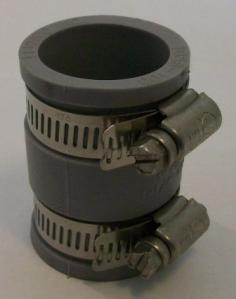 couplings, clay adapters, flex adapters, tees, caps, stoppers, roof flashing, plugs, cement, nut drivers