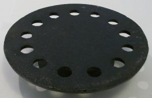 cast iron cover only for 9x9  bell trap