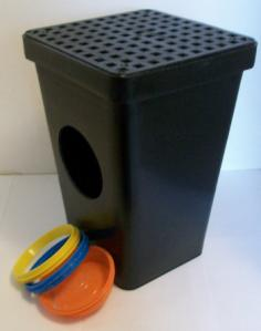 Tuf-Tite 11 x 11 drain sump with grate, 2-hole