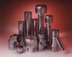 b-vent pipes, ells, caps, flashings, collars, tees, thimbles, wall straps and adapters