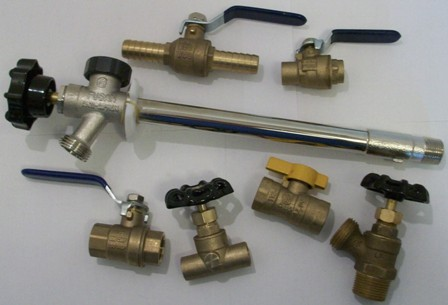 brass ball valves, boiler drains, lawn faucets, stop and waste valves and more for water, gas, oil and air