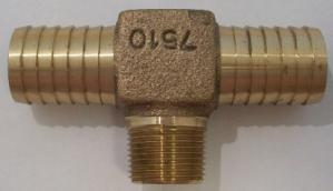 1 insert x 3/4 male brass tee, lead free