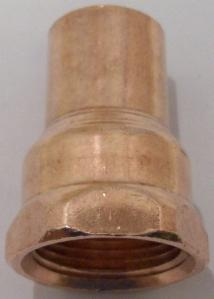 3/4 copper fitting x female adapter