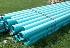 sewer pipe, ells, tees, wyes, couplings, bushings, caps, lubricant and miscellaneous fittings