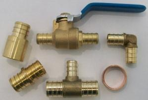 Plumbing pex tubing and fittings for Pex water heater connector